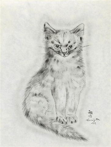 Léonard Tsuguharu Foujita  TitleMessalina (from A book of cats)  Mediumcollotype  Year of Work1929  Printing/Casting1930  SizeHeight 10.5 in.; Width 8 in. / Height 26.6 cm.; Width 20.2 cm.  Editioned.500  Cat. Rais.Buisson, II.30.127  Found./Pub.Covici Friede, pub.  Sale ofMallet Japan: Friday, March 09, 2012 [Lot 00009]  Modern and Contemporary Art  Estimate100,000 - 150,000 JPY (1,210 - 1,815 USD)  Sold For150,475 JPY (1,821 USD) PREMIUM Currency Converter