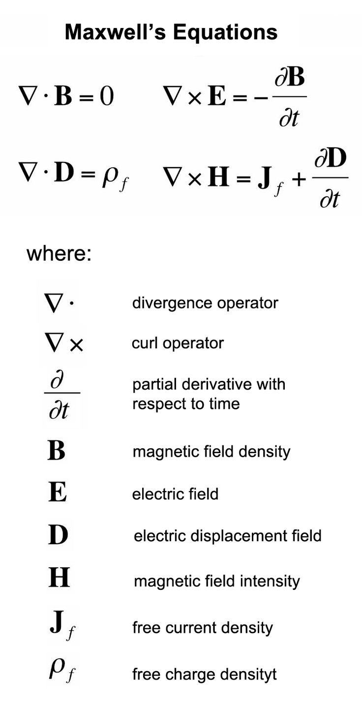 Maxwell's equations    https://www.pinterest.com/pin/543950461220231355/    #SPG #viaSPG