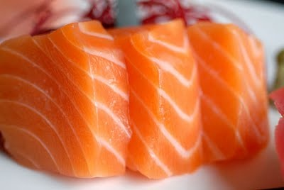 Salmon Sashimi - I'm going to do it for breakfast to spite me enjoying being a vegetarian! Watch this space!