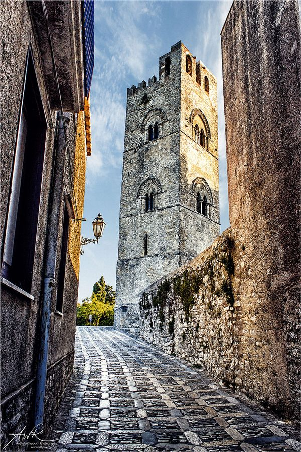"""Erice - Sicily, Italy • """"Eryx III"""" by Anatole Klapouch on http://500px.com/photo/12277407"""