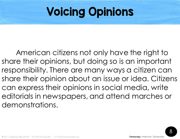 Example of the PowerPoint presentation in American Citizenship.