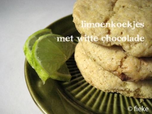 White Chocolate Lime Cookies // by Fiekefatjerietjes