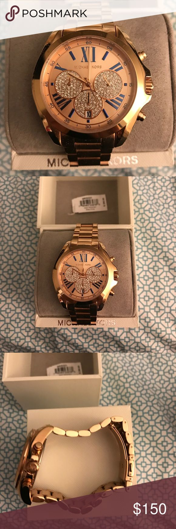 Michael Kors female watch Worn once, great condition beautiful watch. The band is a clasp and they can be taken out to reduce size Michael Kors Accessories Watches
