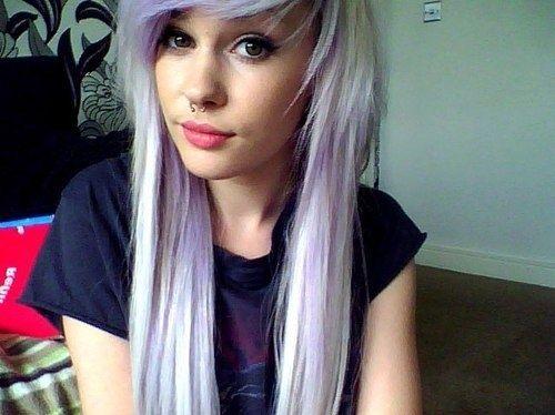 alternative, girl, lilac hair, pastel hair