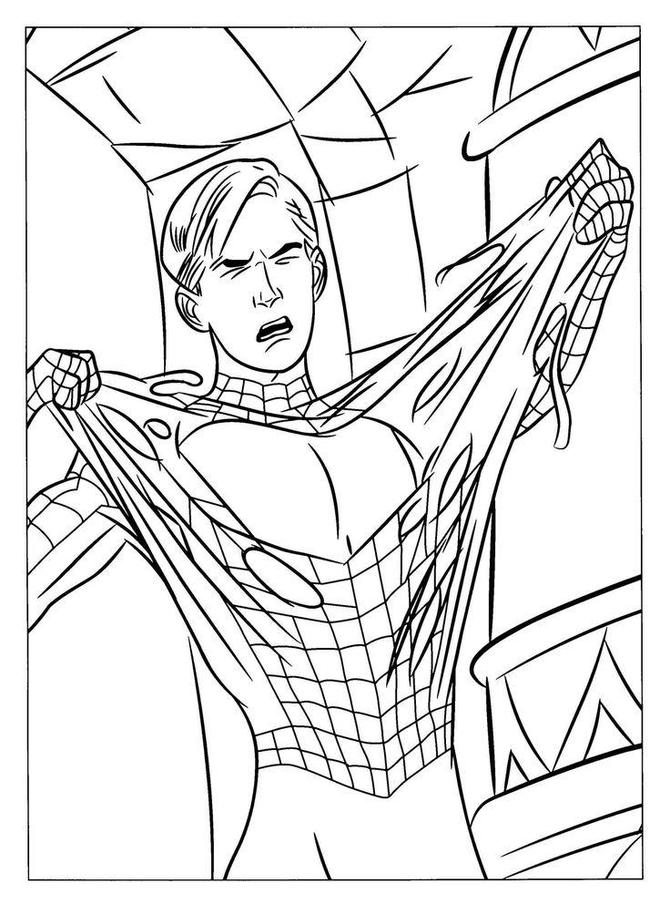 27 best Spiderman Coloring pages free online images on Pinterest - new print out coloring pages superheroes