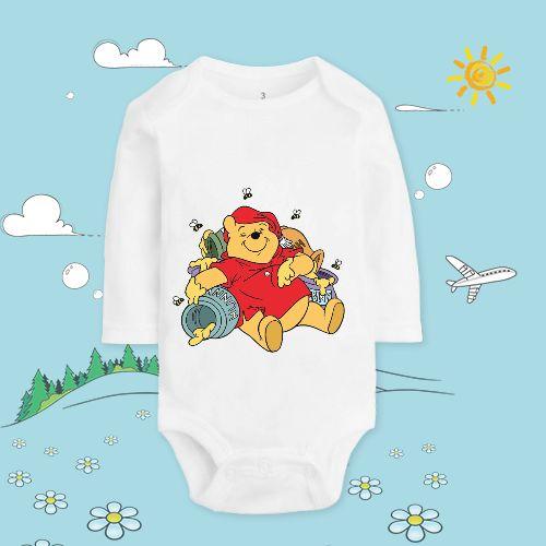 Winnie The Pooh Sleeping Baby Body Suit Long Sleeve Onesie
