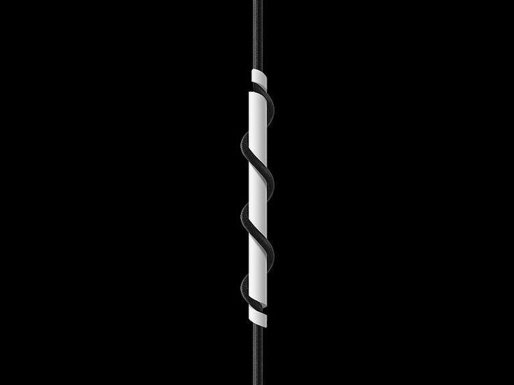 VITA Spinner matt white - with black cord