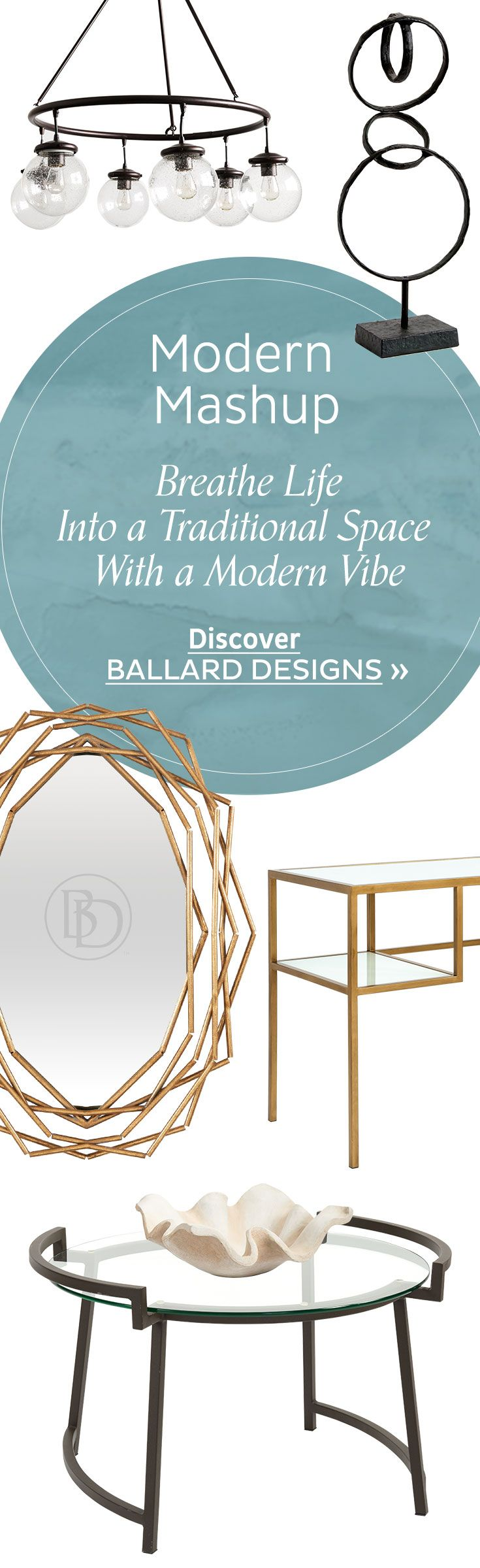 516 best loves images on pinterest ballard designs boston and modern mashup take your traditional space up a notch with these modern pieces