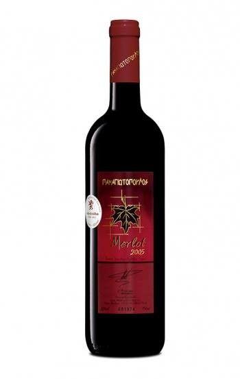 ''PANAGIOTOPOULOS'' Merlot 2008 BIO Red Dry Wine 750ml