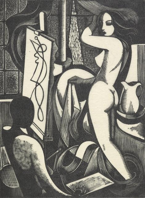 Artist and model no. 1 - Buckland Wright, John