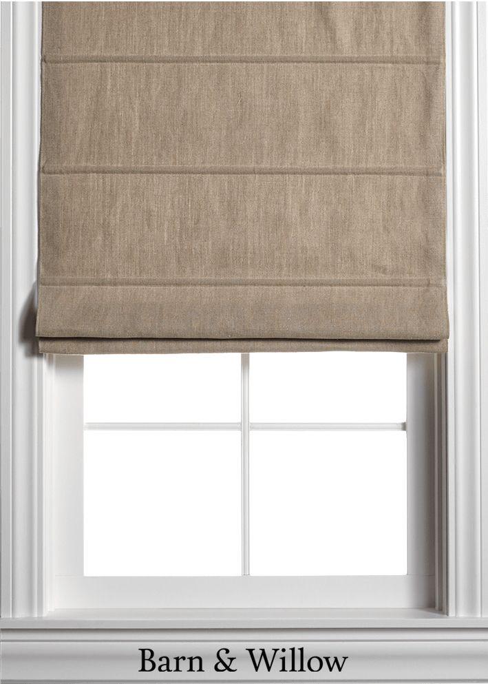 Customize Roman Shades Belgian Linen Cotton Custom Window