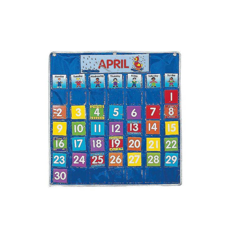 Classroom Calendar Chart : For our homeschool classroom calendar pocket