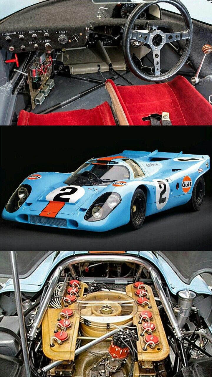 1970 Porsche 917- Winner, Rolex 24 at Daytona. Driven by Pedro Rodriguez of Mexico, Leo Kinnunen of Finland and Englishman Brian Redman, the No. 2 John Wyer Gulf Porsche 917 dominated the 1970 Rolex 24 At Daytona, winning by 45 laps over the second team car, the No. 1 Gulf Porsche 917. The 917's sister cars went on to finish 1st and 2nd at Le Mans in 1970.
