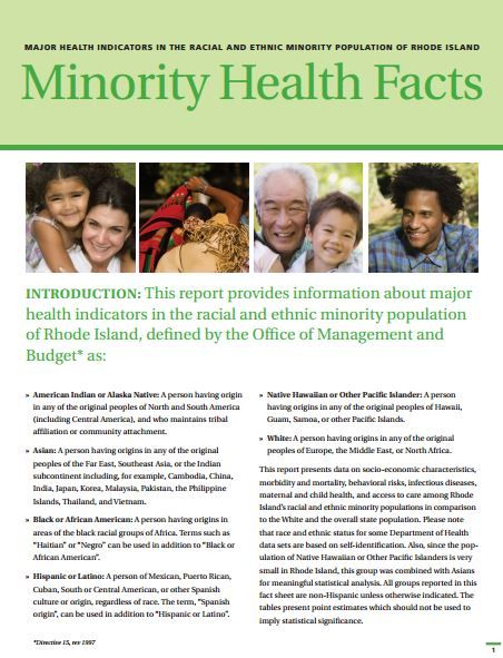 health status of minority group Analyze the health status of a specific minority group select a minority group that is represented in the united states (examples include: american indian/alaskan native, asian american, black or african american, hispanic or latino, native hawaiian, or pacific islander) in an essay of 750-1,000 words, compare and contrast the health status of the minority group you have selected to the.