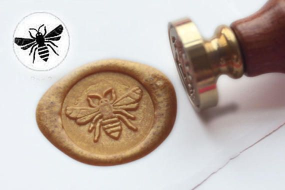 Free Shipping Bee Wax Seal Stamp Sealing wax stamp by MoldsWorld