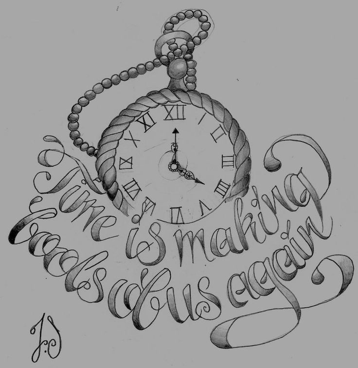 Pocket watch tattoo sketch  25 besten Pocket Watch Tattoo Drawings Bilder auf Pinterest ...