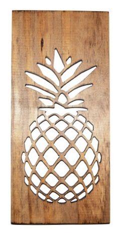Pineapple Kitchen Art- Carved Wood: Slava Dunav - For The Kitchen Online Artisan Exhibition - International Gallery Of The Arts (IGOA)