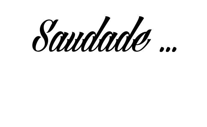 Tatuagem do nome Saudade ... utilizando o estilo Angilla Tattoo