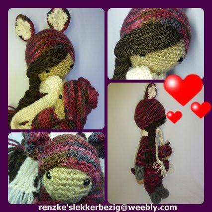 Deze Kira is te koop via  http://renzkeslekkerbezig.weebly.com/gehaakte-lalylala-poppen.html