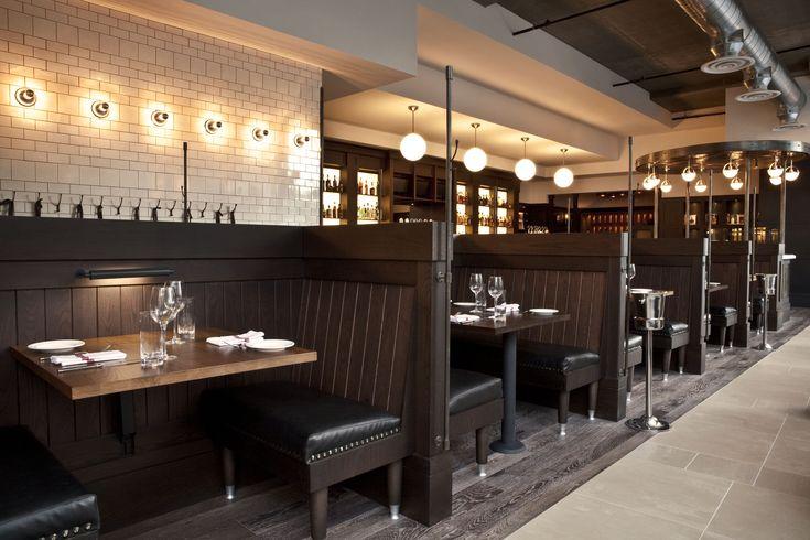 booths and tile design. againn restaurant designed by core