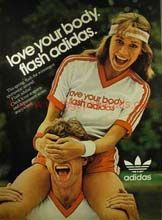 vintage adidas advertisement ad 1970's. http://www.sugarsugar.nl/vintage-heren-kleding-vintage-trainingsjasjes-c-54_55.html