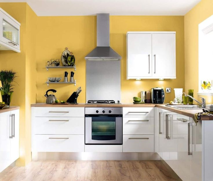 50 Yellow Kitchen Ideas (Photos) | Yellow kitchen walls ...