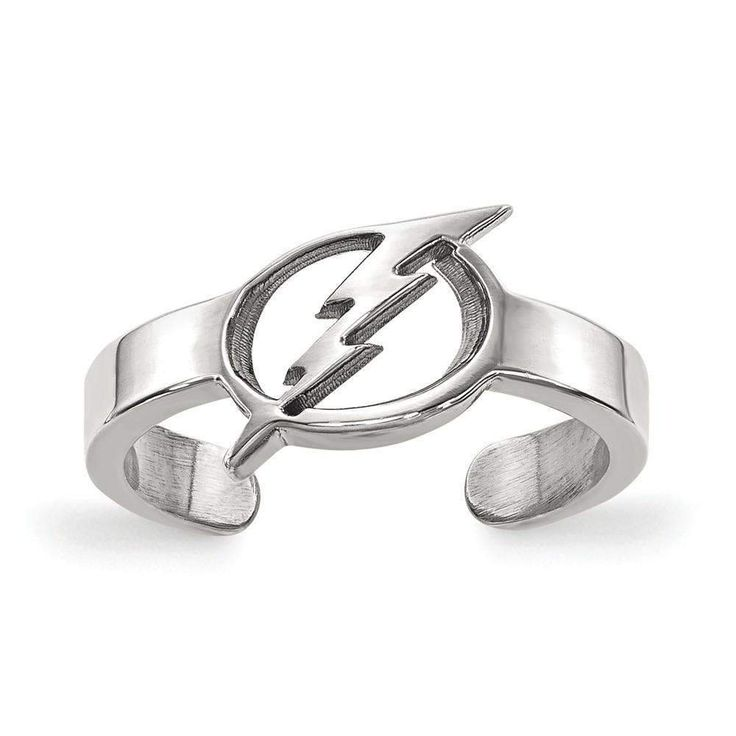 Sterling Silver NHL LogoArt Tampa Bay Lightning Toe Ring