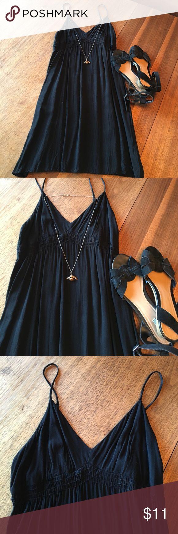 Black Spaghetti Strap Sun Dress Black Adjustable Spaghetti Strap Sun Dress. Simple little black dress that's great for summer. Mossimo Supply Co. Dresses