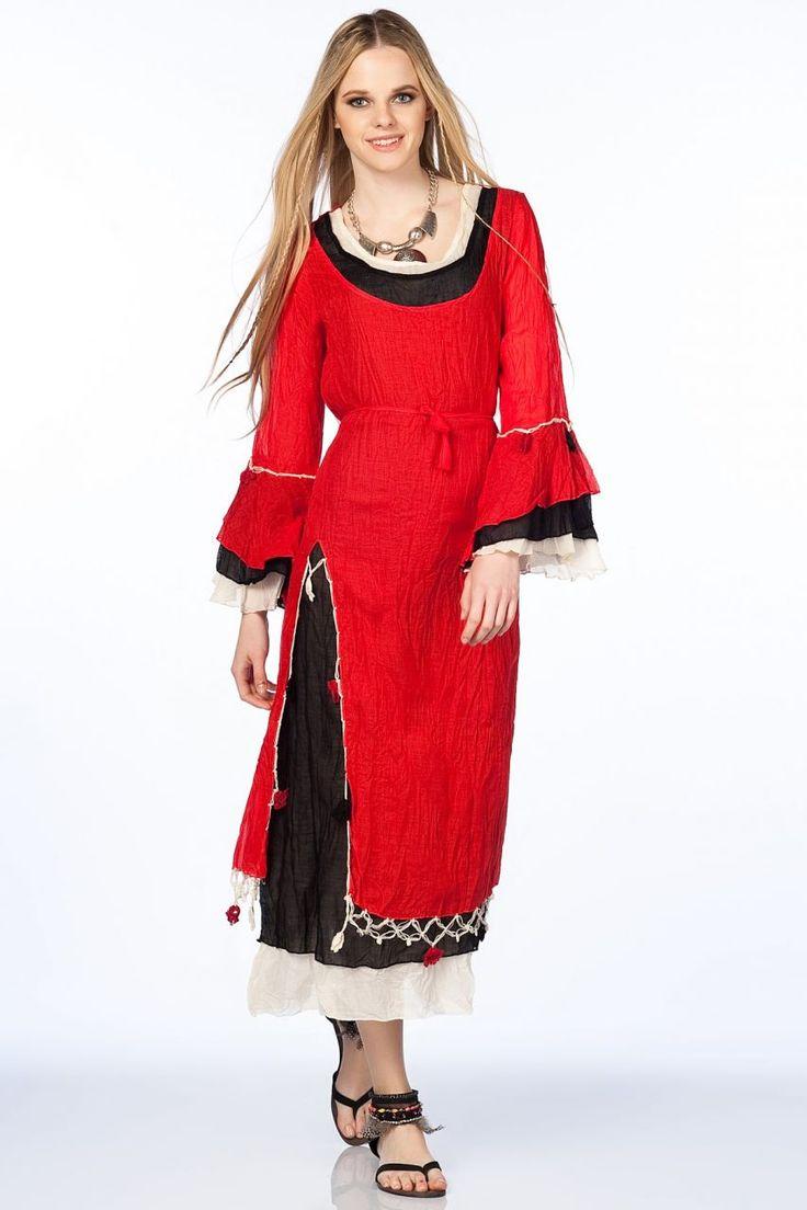 Otantik Gümbet Elbise - Mercan