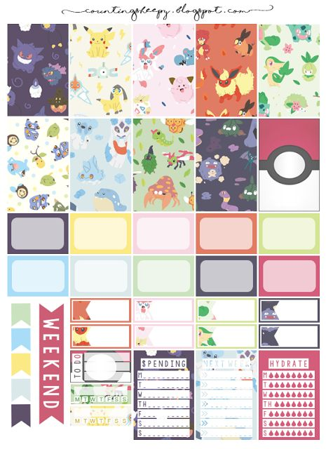 Counting Sheepy: Free Planner Printables - Gotta Catch'em All! (Pokemon)