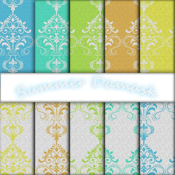 Sandstone Summer Damask by edesigndotcom on Etsy, €3.40