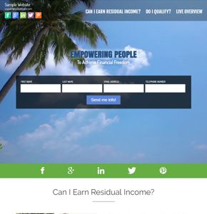 Video background website for lead generation. This style of website shows a couple walking on the beach with the request info form on top.