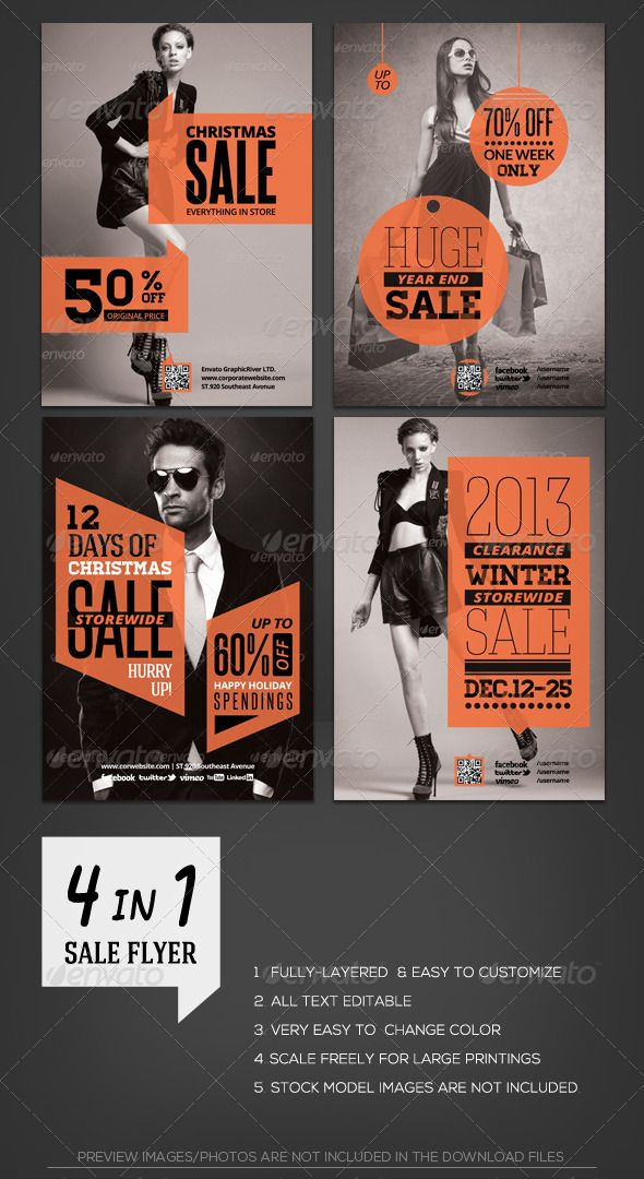 Shopping Store Sale Flyer Template