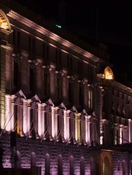Auckland Town Hall At Night