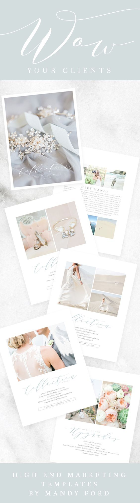 Wedding Photography Price List Multi-Page Guide | Photographer Pricing Guide Template | Wedding Package Pricing | Price Templates For Photographers | Minimalist Pricing Templates