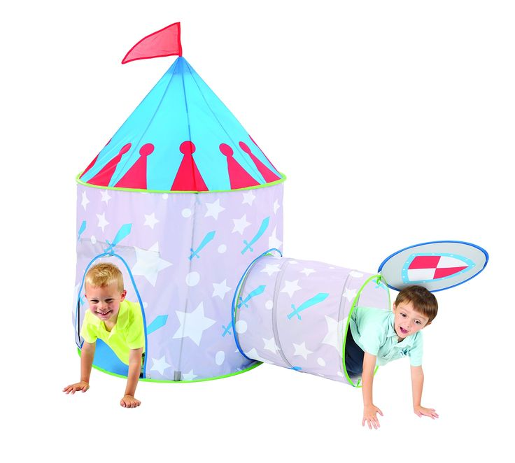 Medieval Knight Castle Kids Play Tent and Tunnel Set with Travel Case - Colorful Outdoor Pop Up Play Tent Adventure Kit for All Kids Party Events | Backyards | Camping | BBQs - Perfect for Boys. IMMAGINATIVE | ROLE PLAY: Bring those vivid imaginations to life with the fun packed play set. Little boys can spend hours of essential pretend playtime making believe they are dragon slayers or brave knights in medieval times. The set provides excellent coverage and there is enough room for…
