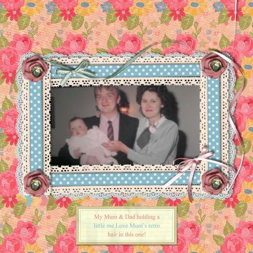 Siobhan - just a couple of years before she started working with us!   'Mum & Dad, a project by siobhan'