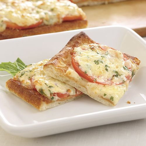 Tomato-Basil Squares - The Pampered Chef®   This recipe is so delicious and perfect for a girl's night!