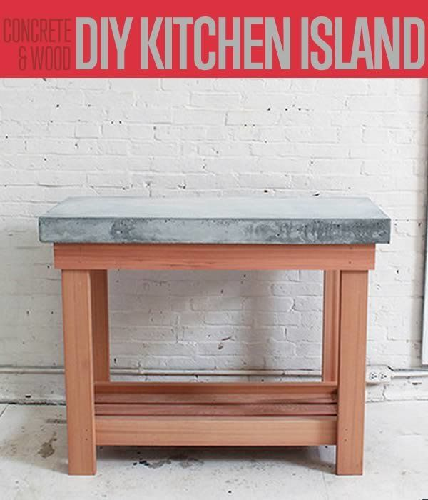 Build This DIY Rustic Kitchen Island | Cheap Kitchen Renovations. posted by By Annabs Sanchez ..  design hacks like this DIY concrete kitchen island not only saves you a lot (a lot!) of money on kitchen renovation, but by adding pieces that you built yourself, it also makes your journey to making your dream home come true more meaningful. Ben Uyeda from Homemade Modern has generously shared his tutorial with us so we can pass it on to you all.