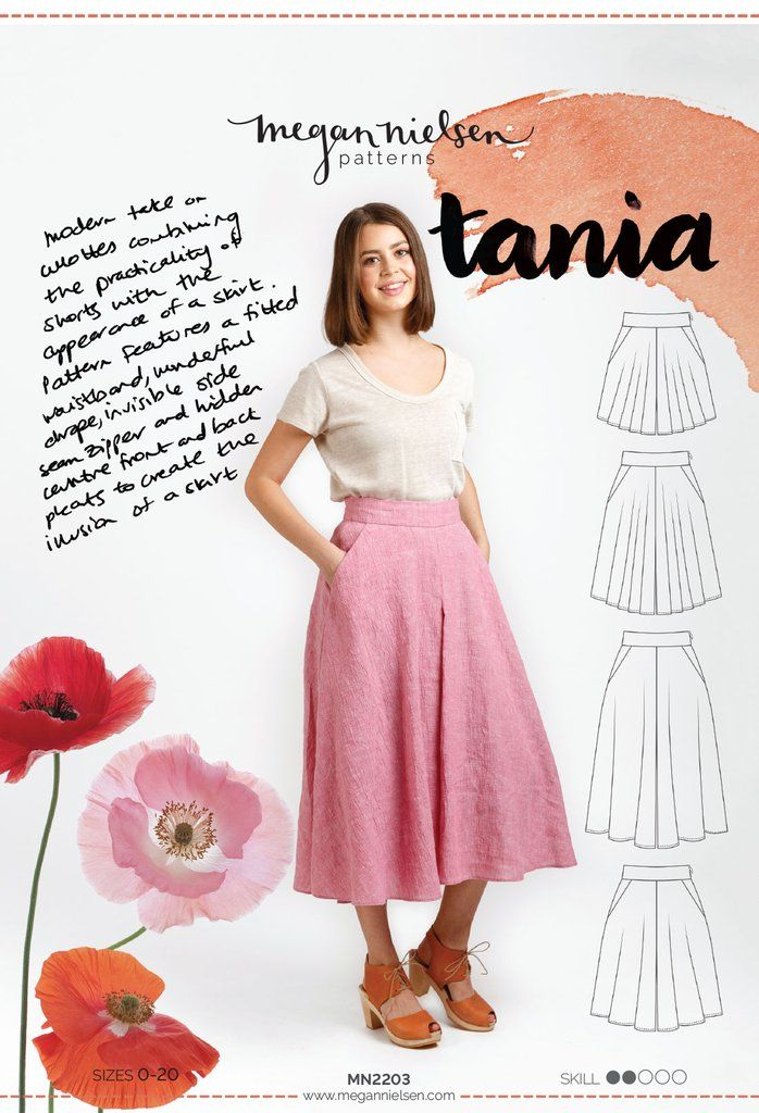"Pattern: Megan Nielson: ""Tania Culottes"""