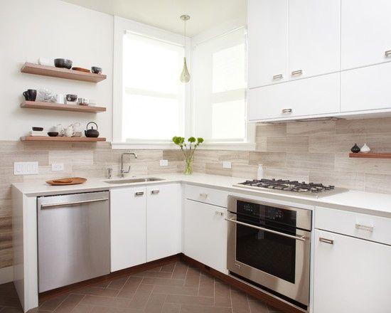 large tile kitchen backsplashes | Large tile backsplash Modern Backsplash Design, Pictures, Remodel ...