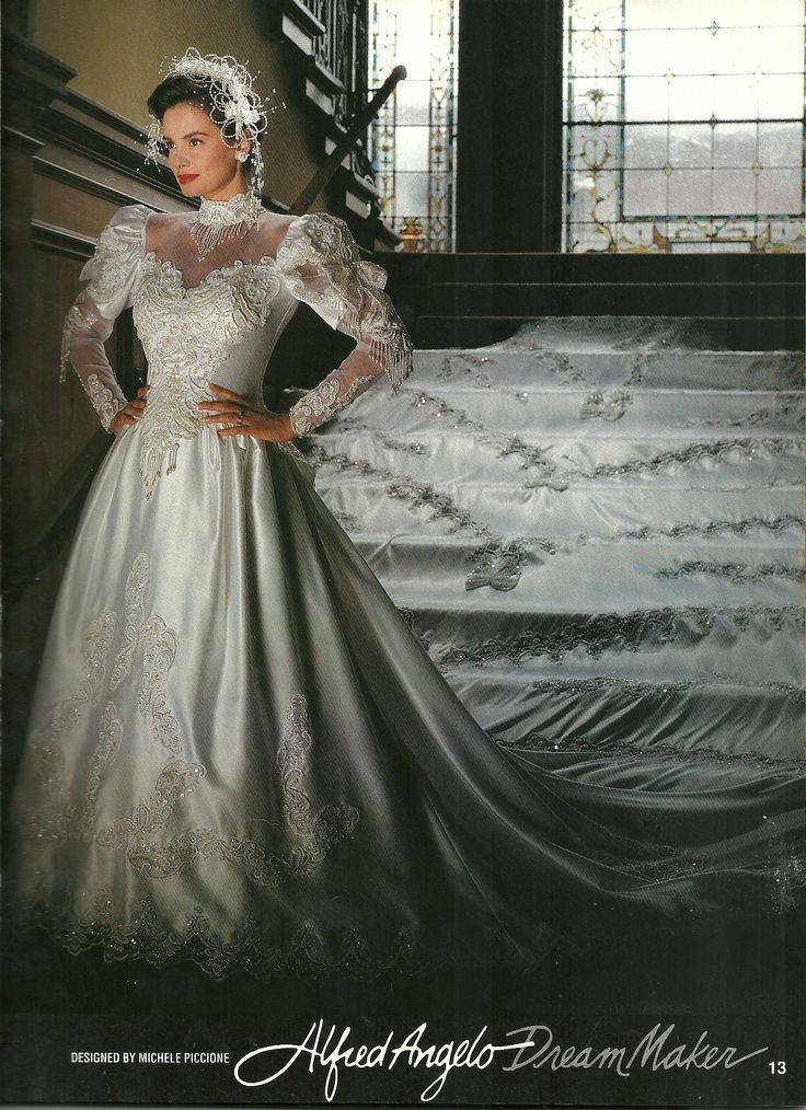 Alfred angelo dream maker spring of 1992 1990 39 s wedding for D angelo wedding dresses