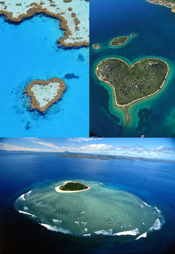Heart shaped island great barrier reef of australia for Good destination wedding locations