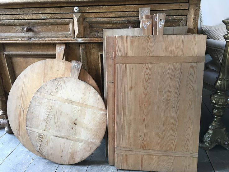 Old breadboards from German and Austrian bakeries   Elizabeth Lee Interiors