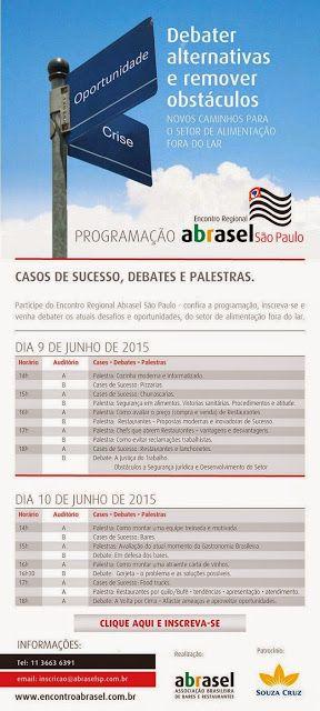 Falemos de gastronomia: Encontro Regional da ABRASEL SP-Fispal 2015,Progra...