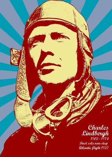 Charles Lindhberg. Als Poster erhältlich auf meiner Webseite: goo.gl/jvgwQl