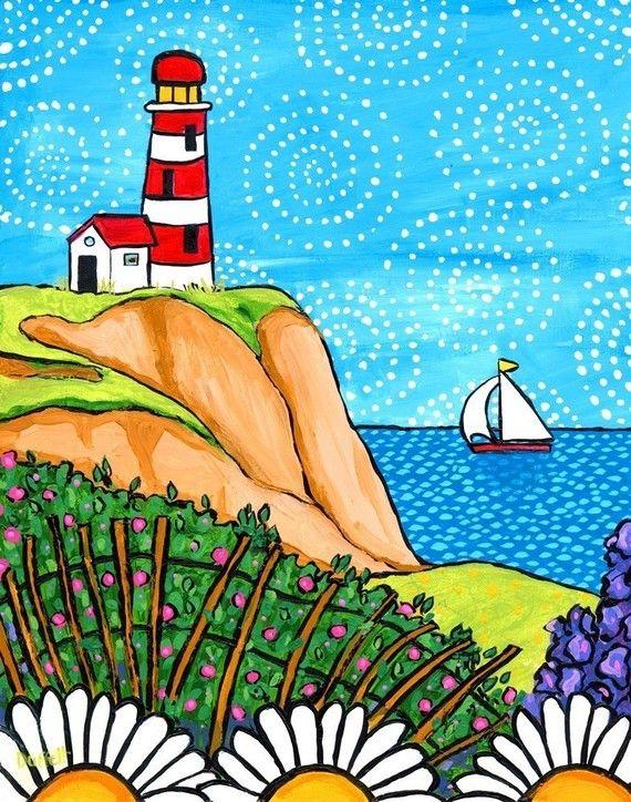 Lighthouse  Coastal seascape Nova Scotia  Shelagh Duffett