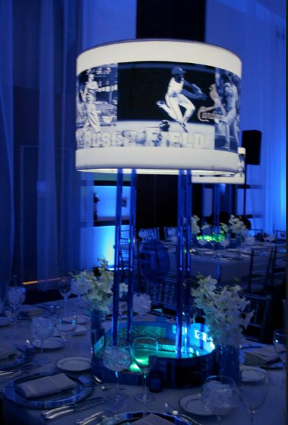 Table centerpiece with photo shades