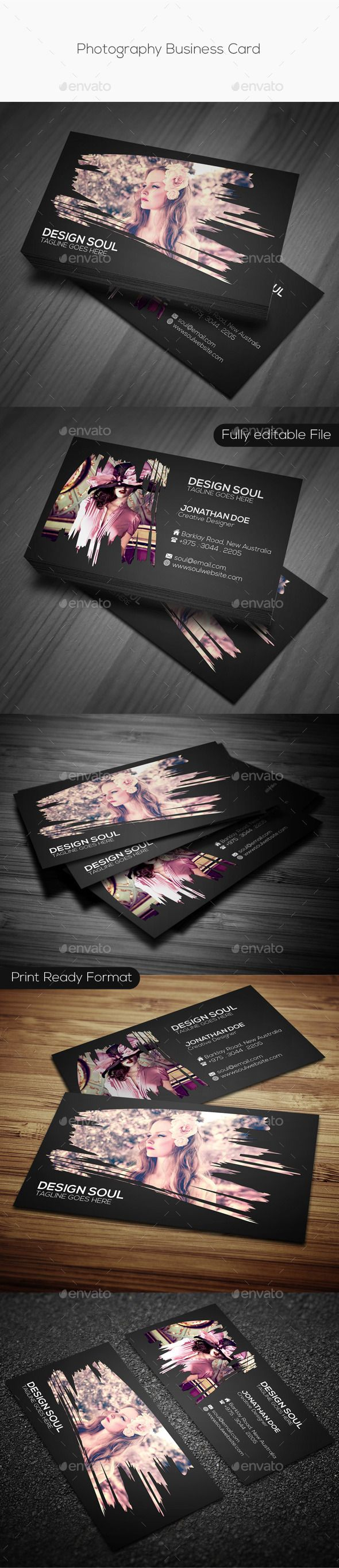 Photography Business Card Template #design Download: http://graphicriver.net/item/photography-business-card/9259529?ref=ksioks