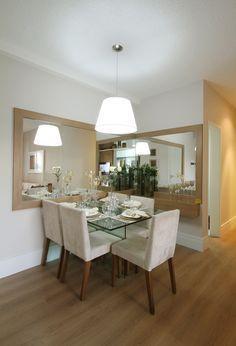 Construindo Minha Casa Clean: Salas de Jantar Pequenas - Mesa Encostada no Canto da Parede!